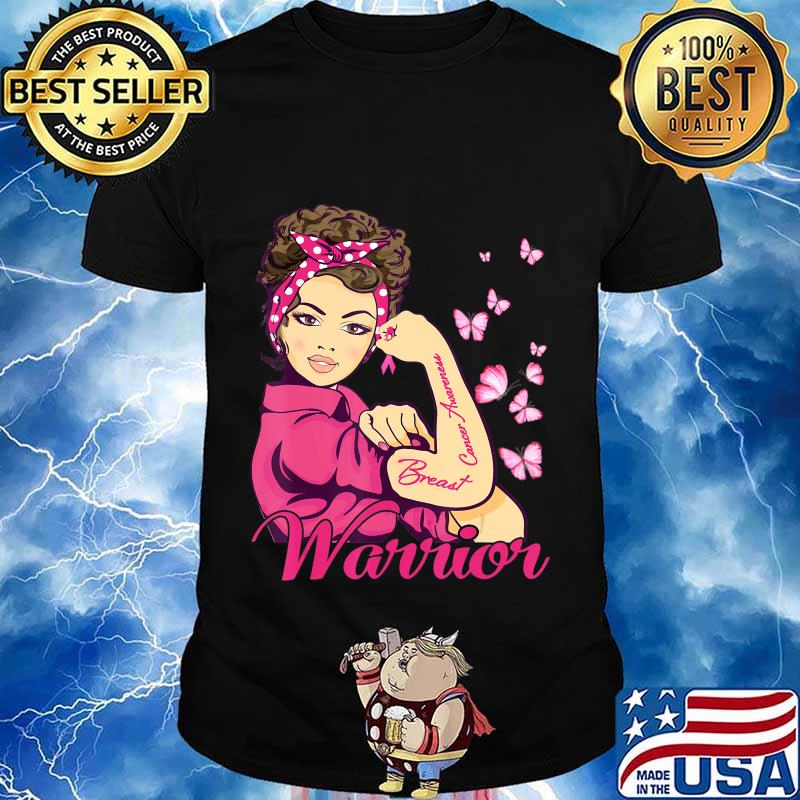 Breast Cancer Warrior Rosie Riveter Pink Ribbon Unbreakable T-Shirt