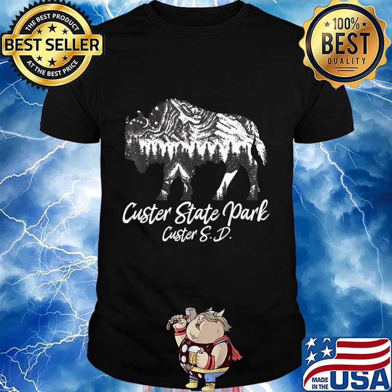 Custer State Park Green South Dakota Bison Gifts For Men T-Shirt