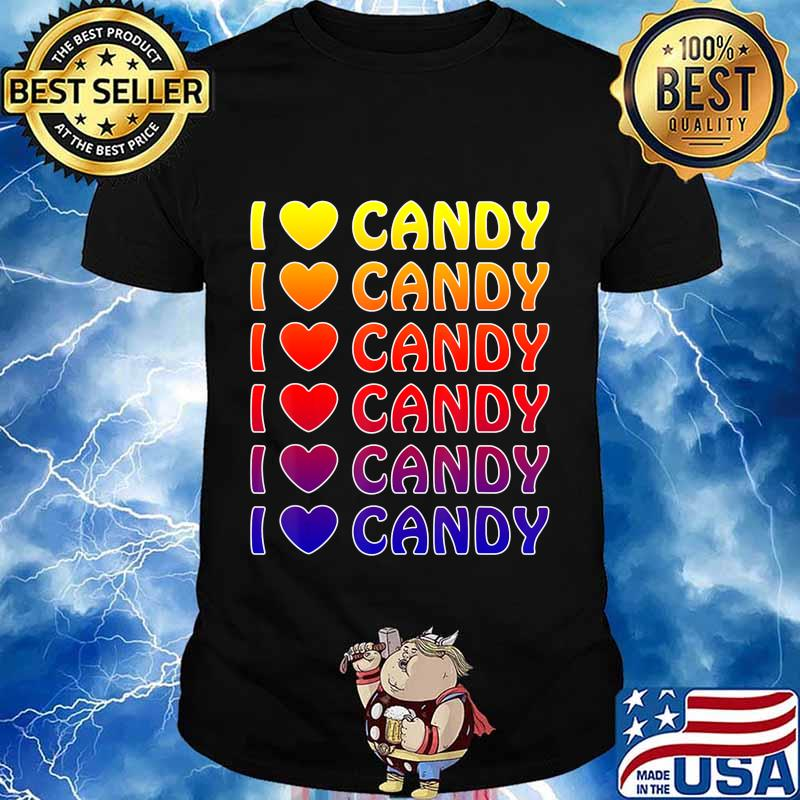 Cute Halloween Candy I love Candy Boy Girls Kids Gift T-Shirt