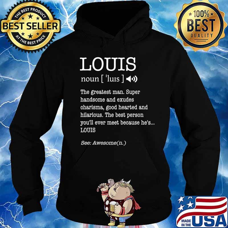 First Name Louis Funny Adult Definition Men's Personalized T-Shirt Hoodie
