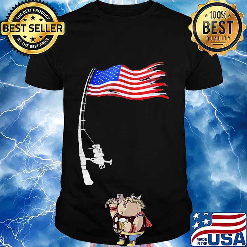 Fishing american flag vintage shirt