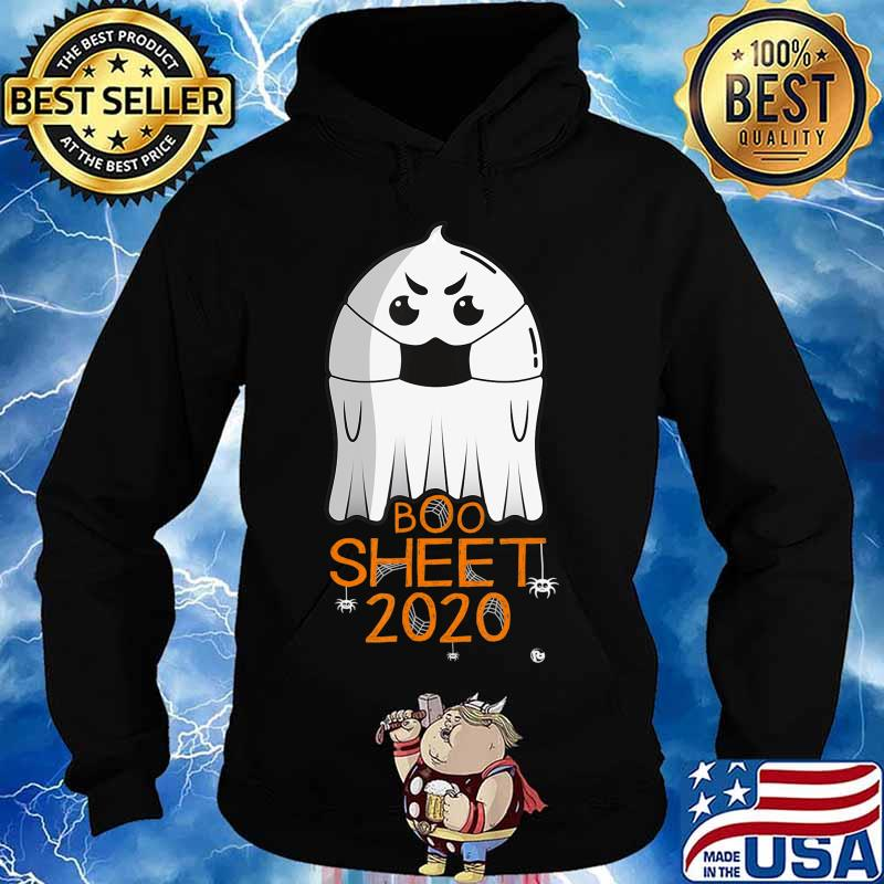 Halloween 2020 Costume. Ghost with Mask. 2020 IS BOO SHEET T-Shirt Hoodie
