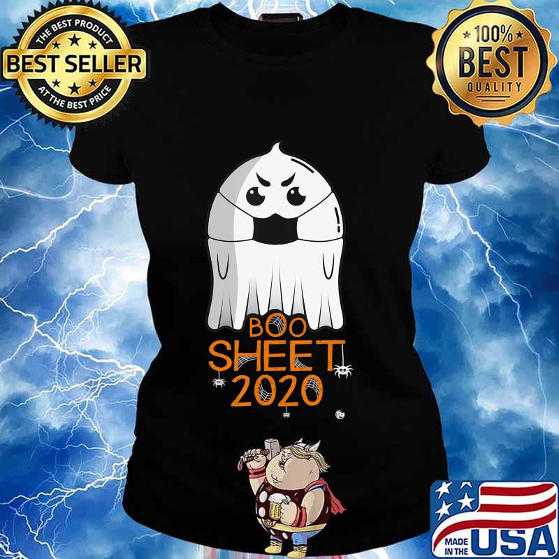 Halloween 2020 Costume. Ghost with Mask. 2020 IS BOO SHEET T-Shirt Ladies tee