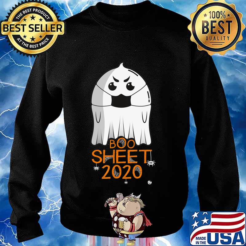 Halloween 2020 Costume. Ghost with Mask. 2020 IS BOO SHEET T-Shirt Sweater