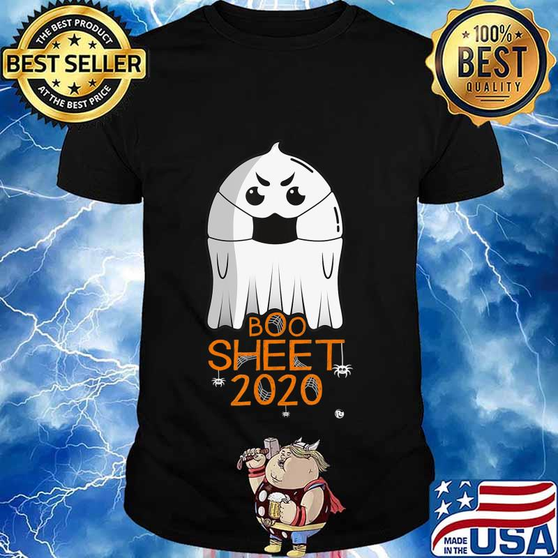 Halloween 2020 Costume. Ghost with Mask. 2020 IS BOO SHEET T-Shirt