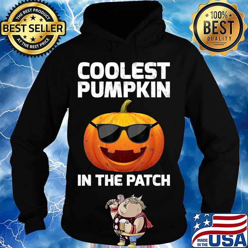 Halloween Coolest Pumpkin In The Patch Boys Girls Kids T-Shirt Hoodie