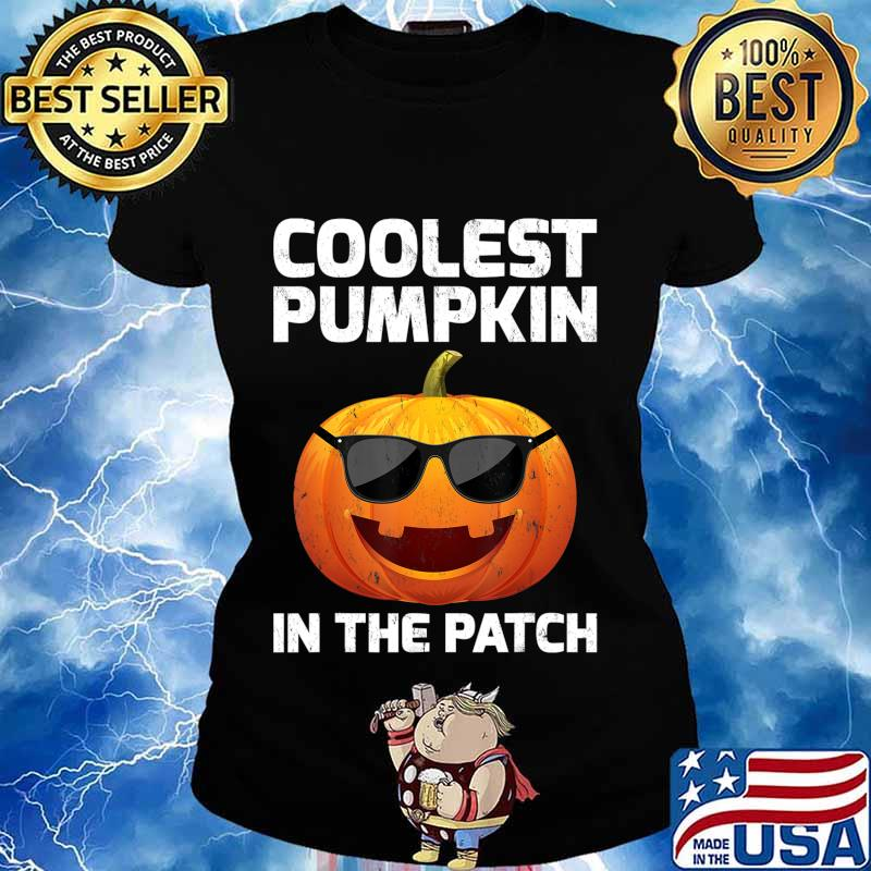 Halloween Coolest Pumpkin In The Patch Boys Girls Kids T-Shirt Ladies tee
