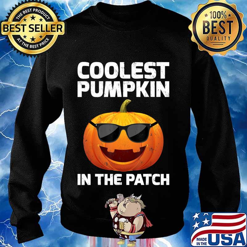 Halloween Coolest Pumpkin In The Patch Boys Girls Kids T-Shirt Sweater