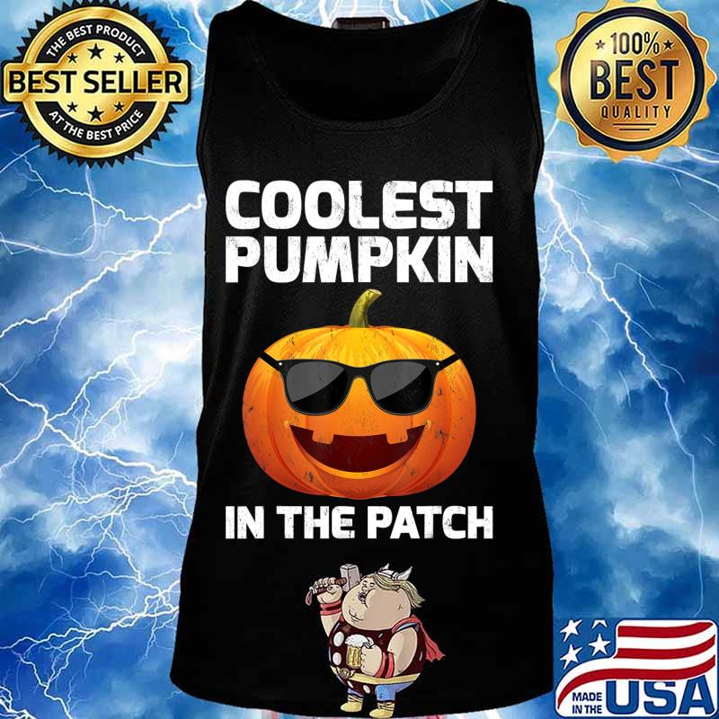 Halloween Coolest Pumpkin In The Patch Boys Girls Kids T-Shirt Tank top