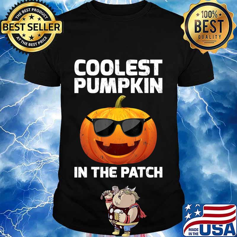 Halloween Coolest Pumpkin In The Patch Boys Girls Kids T-Shirt