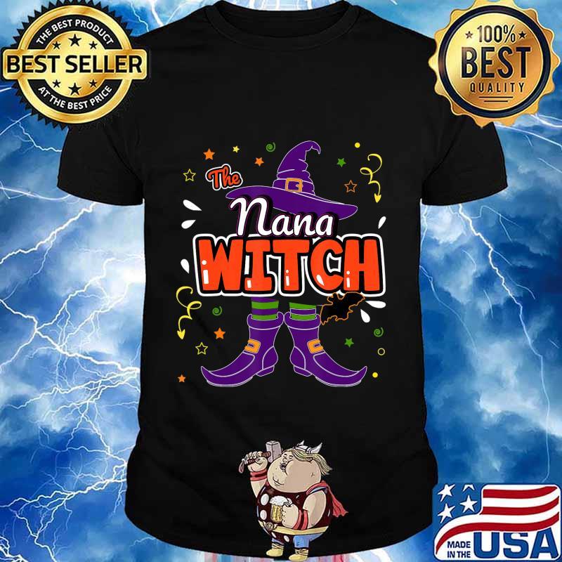 Halloween The Nana Witch Family Matching Funny Group Women T-Shirt