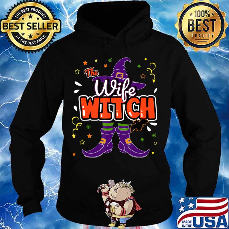 Halloween The Wife Witch Family Matching Funny Group Women T-Shirt Hoodie