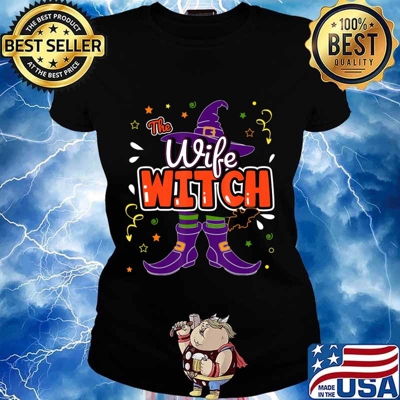 Halloween The Wife Witch Family Matching Funny Group Women T-Shirt Ladies tee