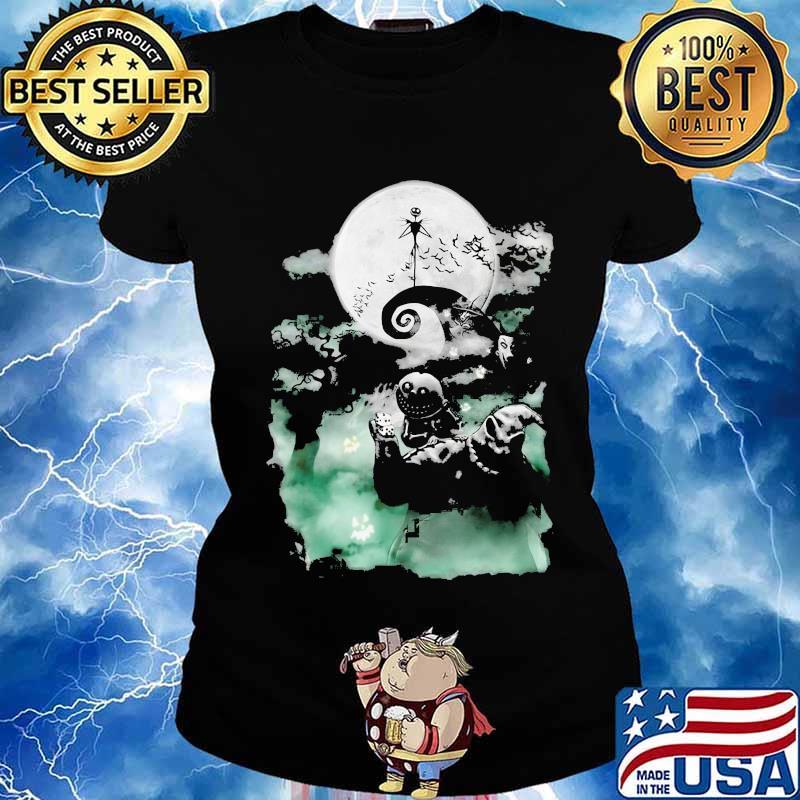 Happy Halloween Jack Skellington Nightmare Moon Shirt Hoodie Sweater Long Sleeve And Tank Top