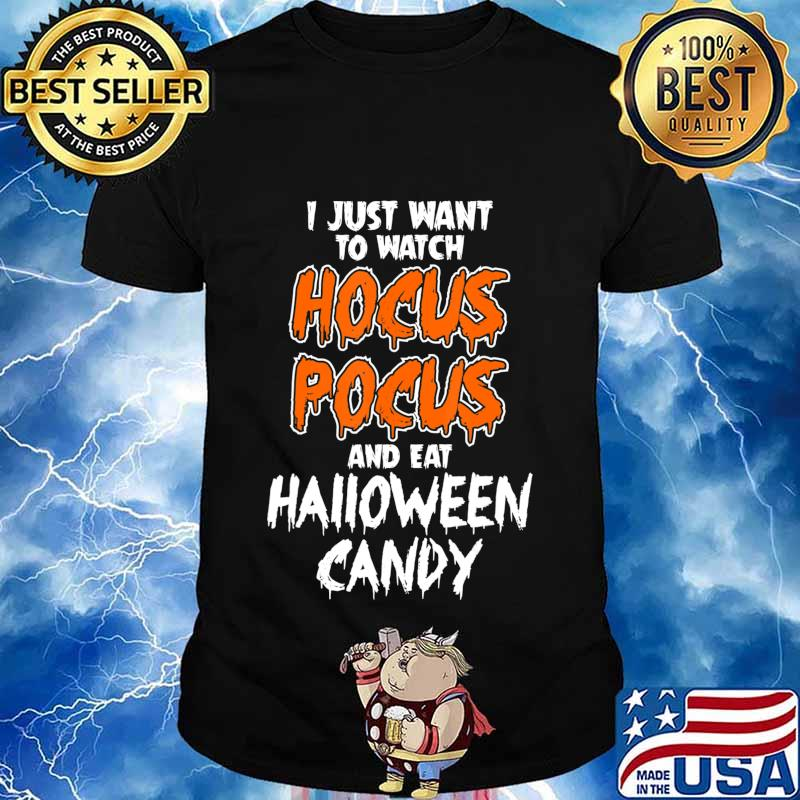 Hocus Pocus and Eat Halloween Candy Funny T-Shirt