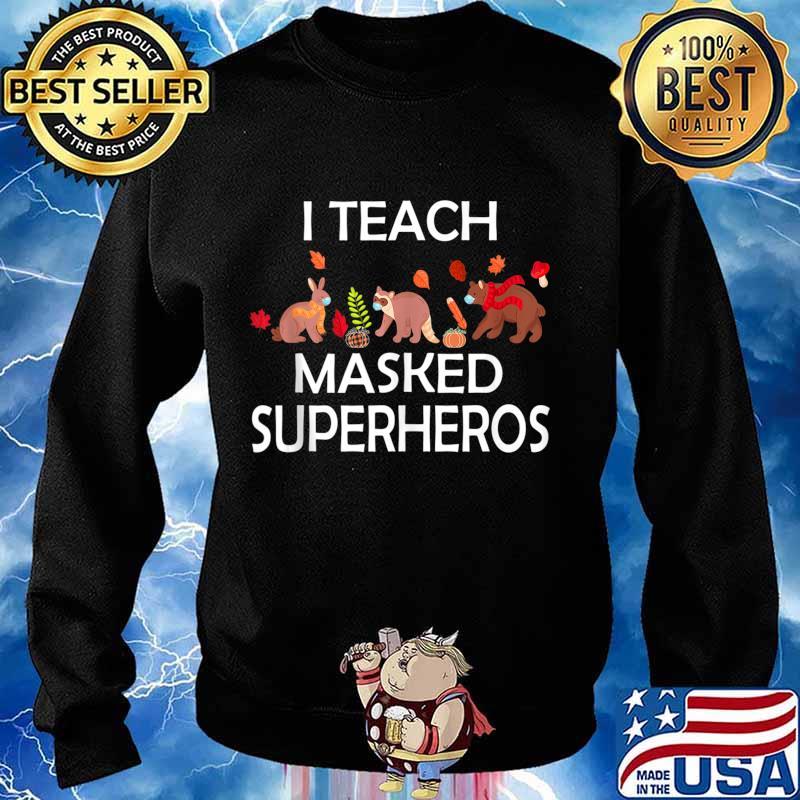 I Teach Masked Superheroes funny pumpkin animals lovers s Sweater