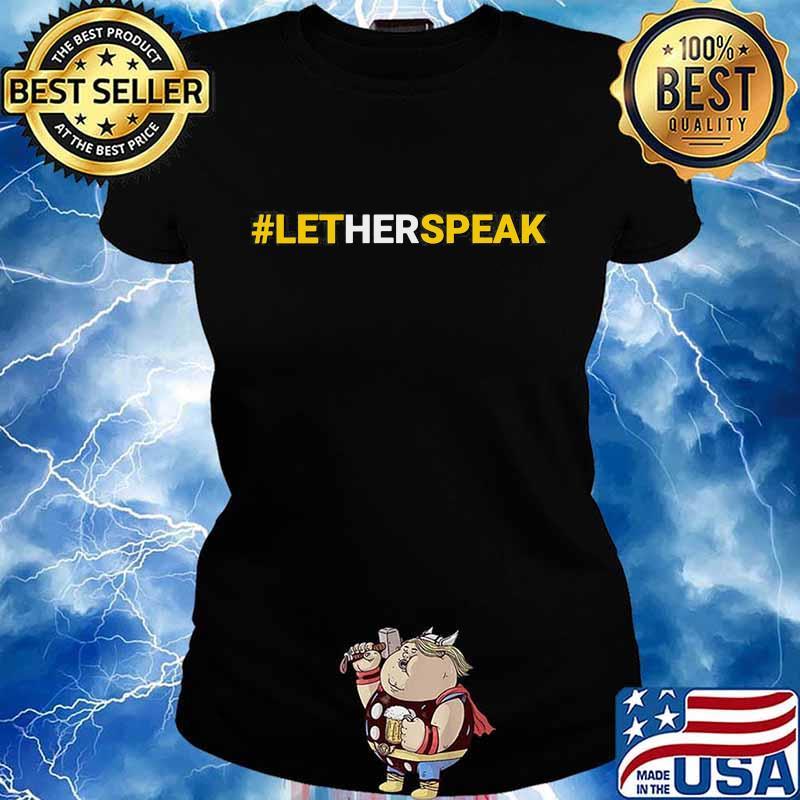 #LetHerSpeak Jo Jorgensen Libertarian For President Shirt Ladies tee