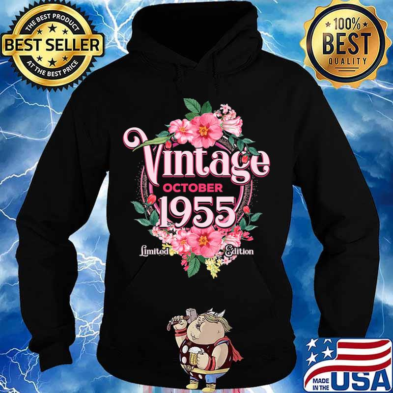 October 1955 Birthday Gift 65th Flowers Limited Edition T-Shirt Hoodie