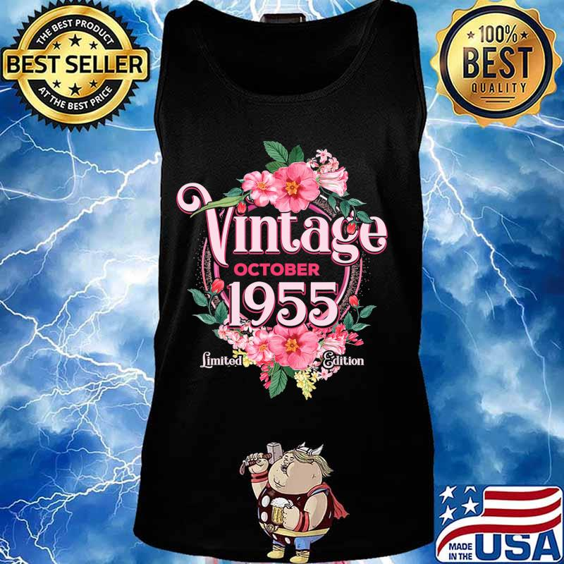 October 1955 Birthday Gift 65th Flowers Limited Edition T-Shirt Tank top
