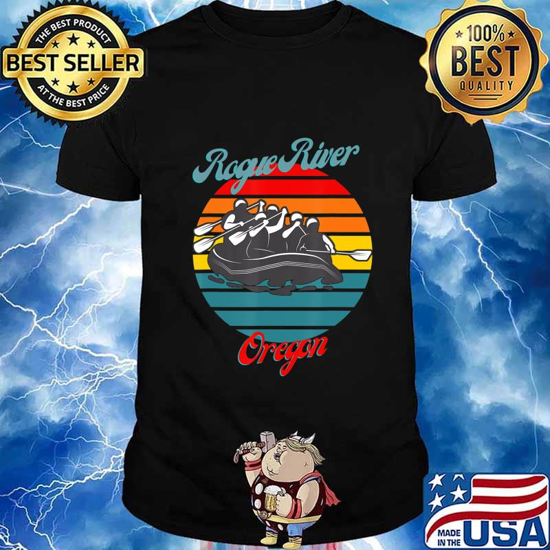 Rogue River Oregon White Water Rafting Canoeing T-Shirt