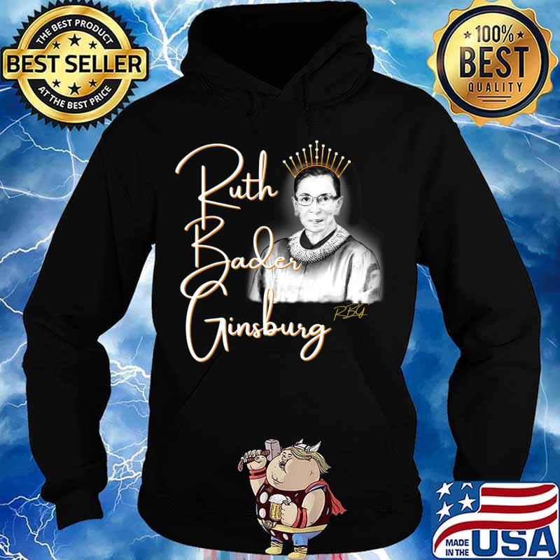 Ruth Bader Ginsberg, The Queen. Hand drawn T-Shirt Hoodie