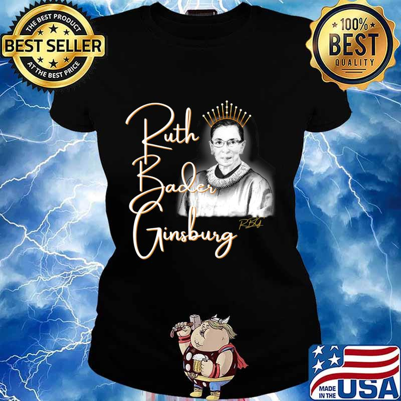 Ruth Bader Ginsberg, The Queen. Hand drawn T-Shirt Ladies tee