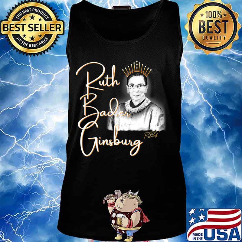 Ruth Bader Ginsberg, The Queen. Hand drawn T-Shirt Tank top
