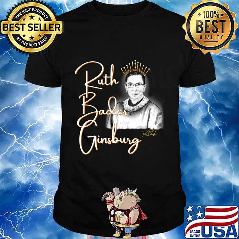Ruth Bader Ginsberg, The Queen. Hand drawn T-Shirt