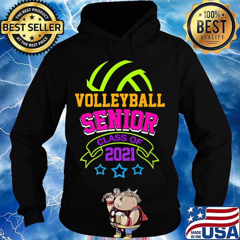 Senior Volleyball Player Class of 2021 Teen Player Gift T-Shirt Hoodie