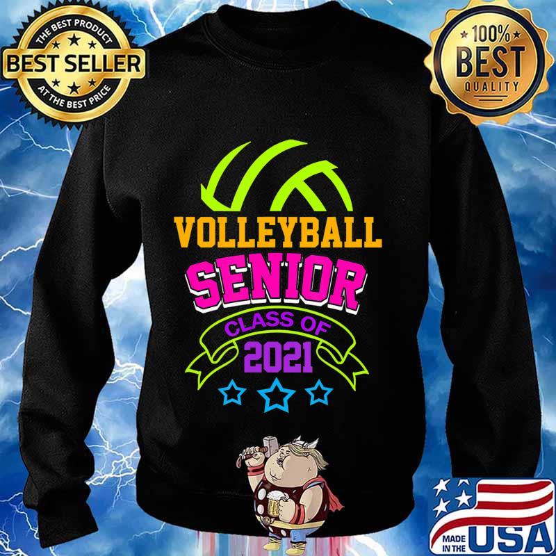 Senior Volleyball Player Class of 2021 Teen Player Gift T-Shirt Sweater