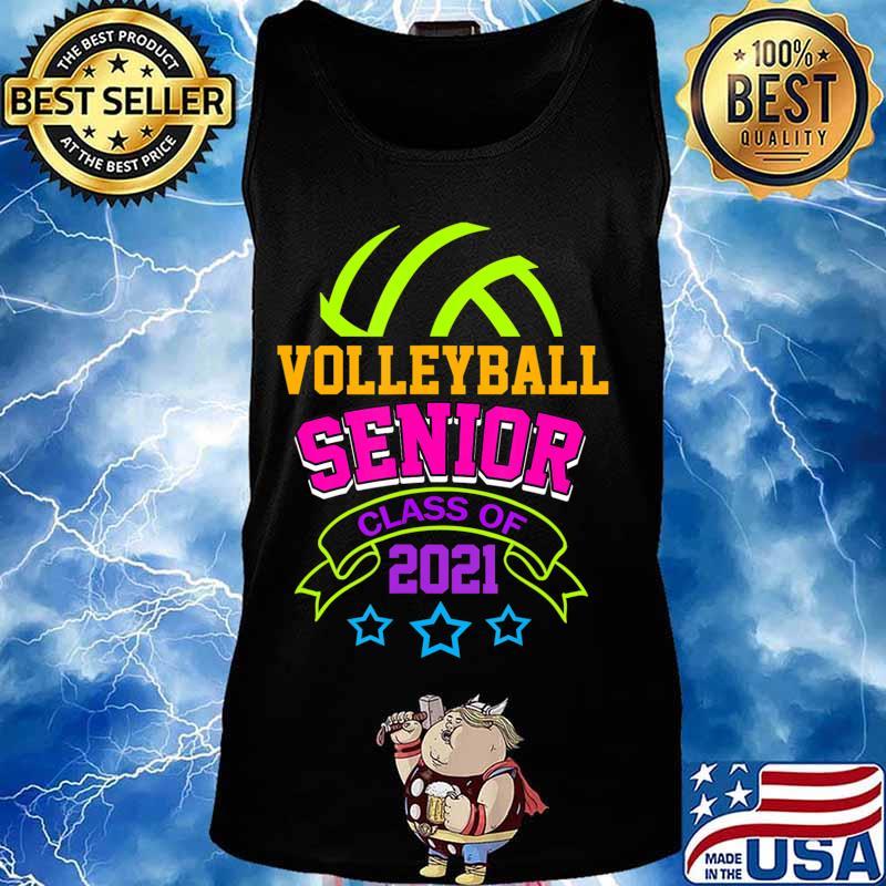 Senior Volleyball Player Class of 2021 Teen Player Gift T-Shirt Tank top