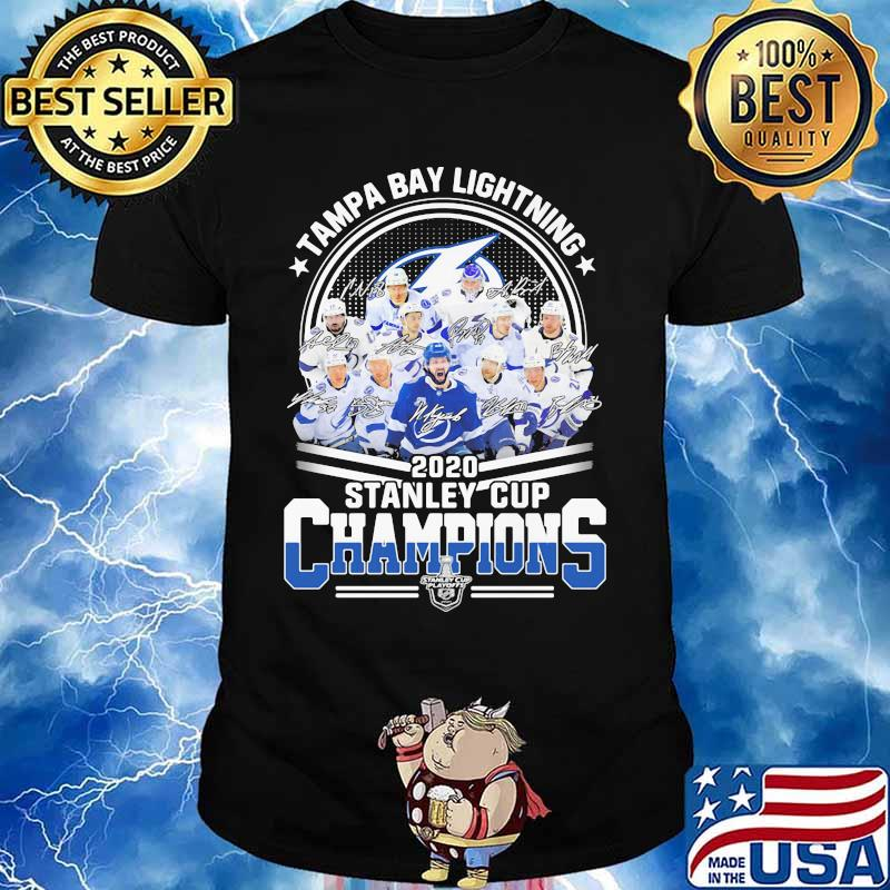 Tampa Bay Lightning 2020 Stanley Cup Champions Signatures Shirt Hoodie Sweater Long Sleeve And Tank Top