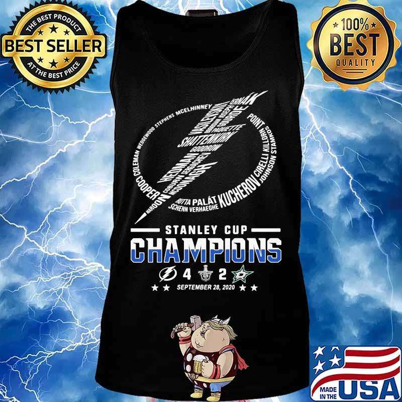 Tampa Bay Lightning Logo Stanley Cup Champions 2020 Shirt Hoodie Sweater Long Sleeve And Tank Top