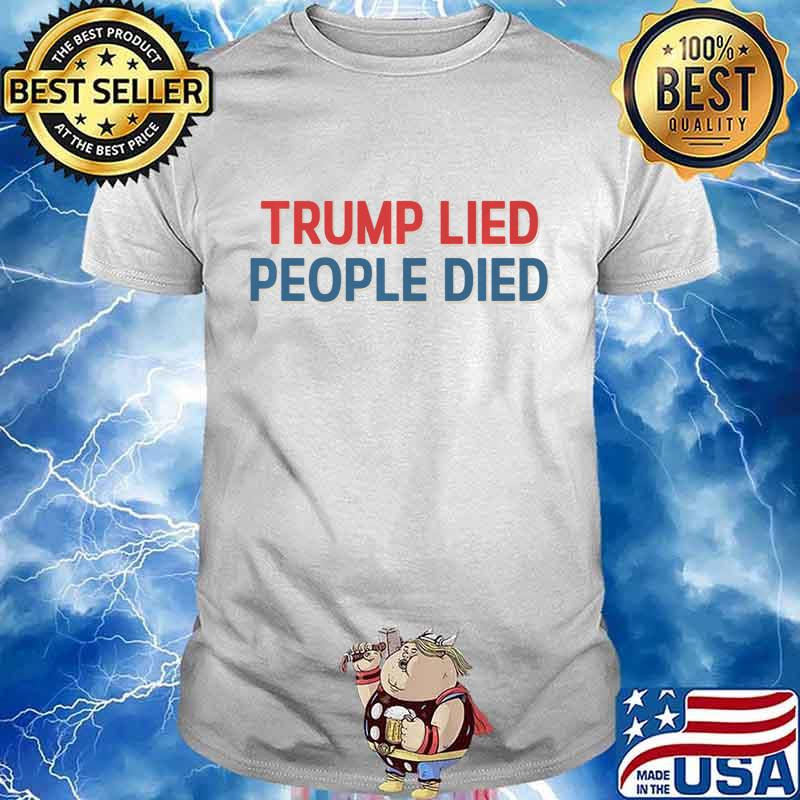 Trump Lied People Died Vintage Anti Trump Retro distressed Premium T-Shirt
