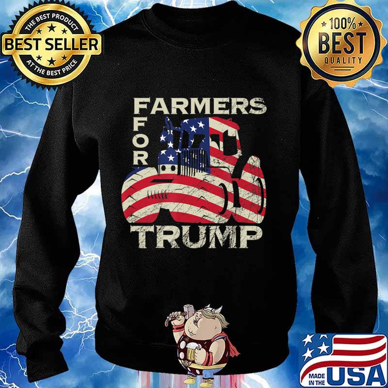 US Republican USA Patriot Farmers for Trump Election T-Shirt Sweater