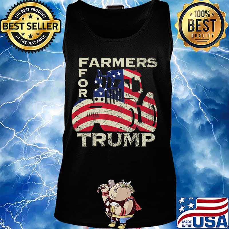 US Republican USA Patriot Farmers for Trump Election T-Shirt Tank top