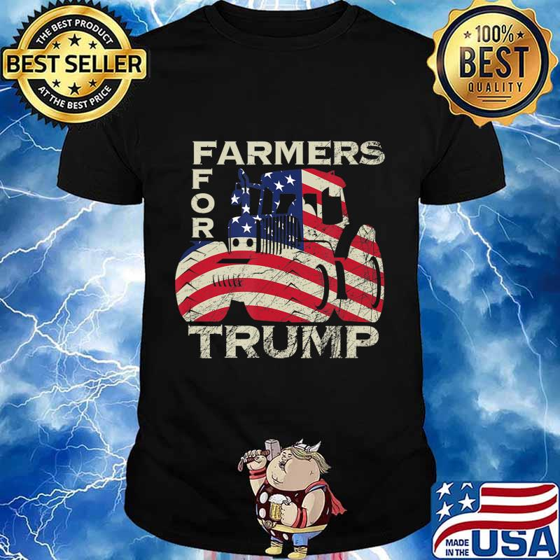 US Republican USA Patriot Farmers for Trump Election T-Shirt
