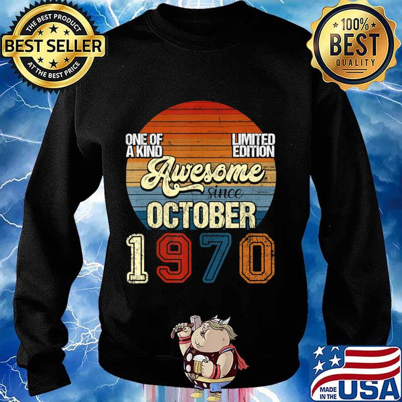 Vintage October 1970 50 Years Old 50th Birthday Gifts T-Shirt Sweater