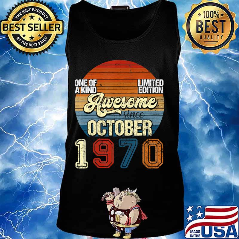 Vintage October 1970 50 Years Old 50th Birthday Gifts T-Shirt Tank top
