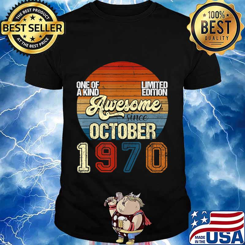 Vintage October 1970 50 Years Old 50th Birthday Gifts T-Shirt