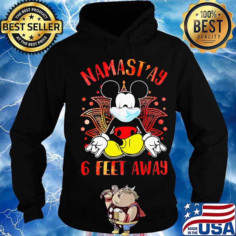 Yoga chill mickey mouse mask namastay 6 feet away s Hoodie