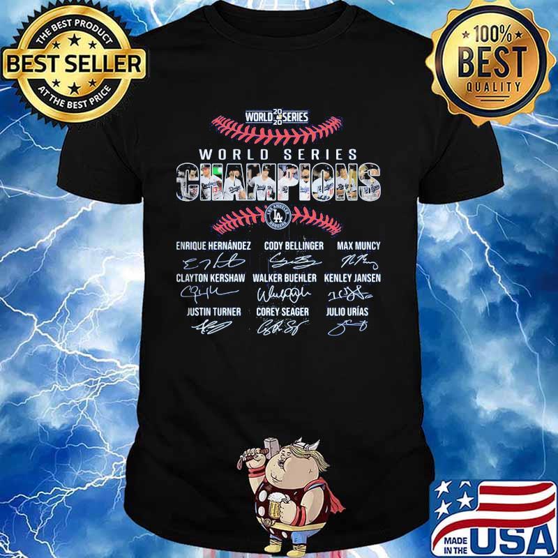 2020 world series world series los angeles dodgers signatures shirt