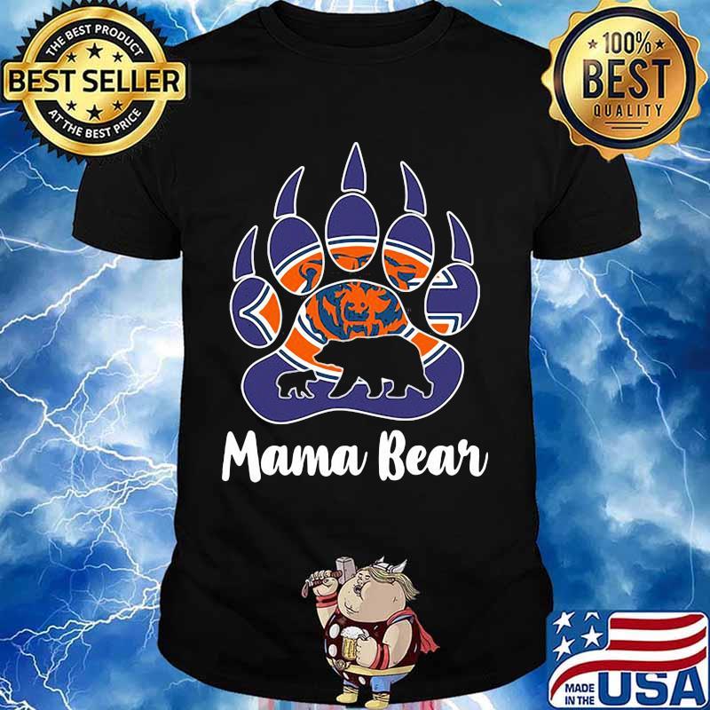 Chicago bear mama paw bear shirt