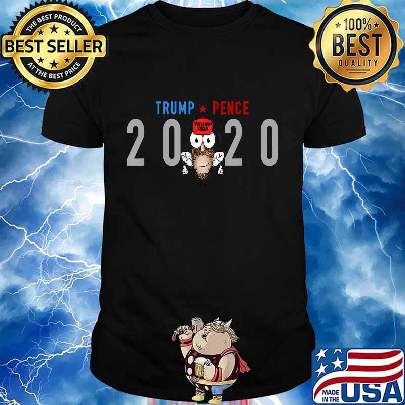 Donald Trump 2020 Pence Tshirt Funny Cotton Tee Vintage Gift For Men Women