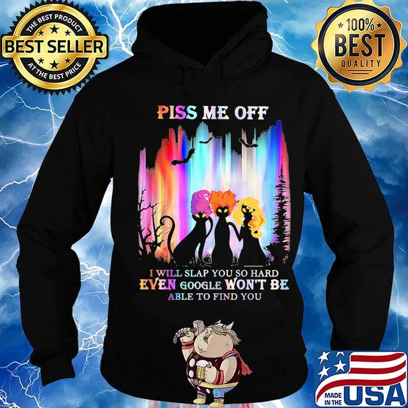 Halloween black cat hocus pocus piss me off i will slap you so hard even google won't be able to find you s Hoodie
