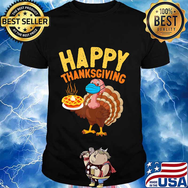 Funny Turkey In Mask 2020 Womens Thanksgiving Tank Top