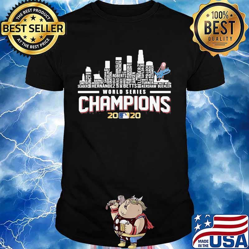 Los angeles dodgers world series champions 2020 baseball shirt