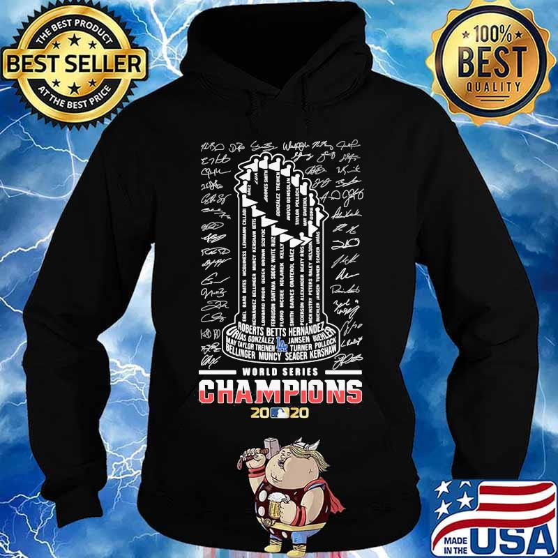 Los angeles dodgers world series champions 2020 signatures logo s Hoodie