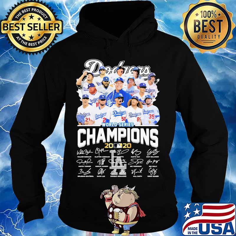 Los angeles dodgers world series champions 2020 signatures s Hoodie