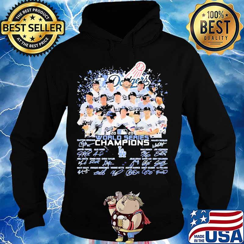 Los angeles dodgers world series champions signatures 2020 s Hoodie